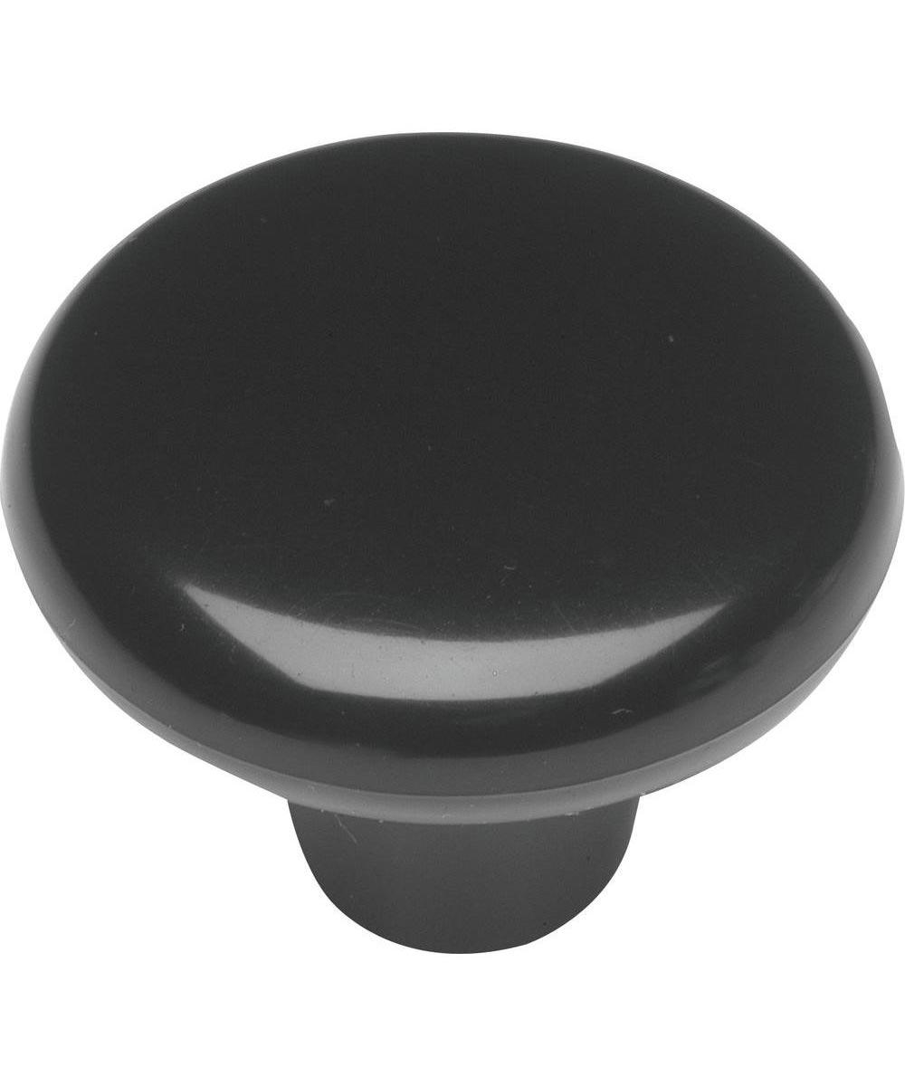 1-1/2 in. Round Black Midway Cabinet Knob