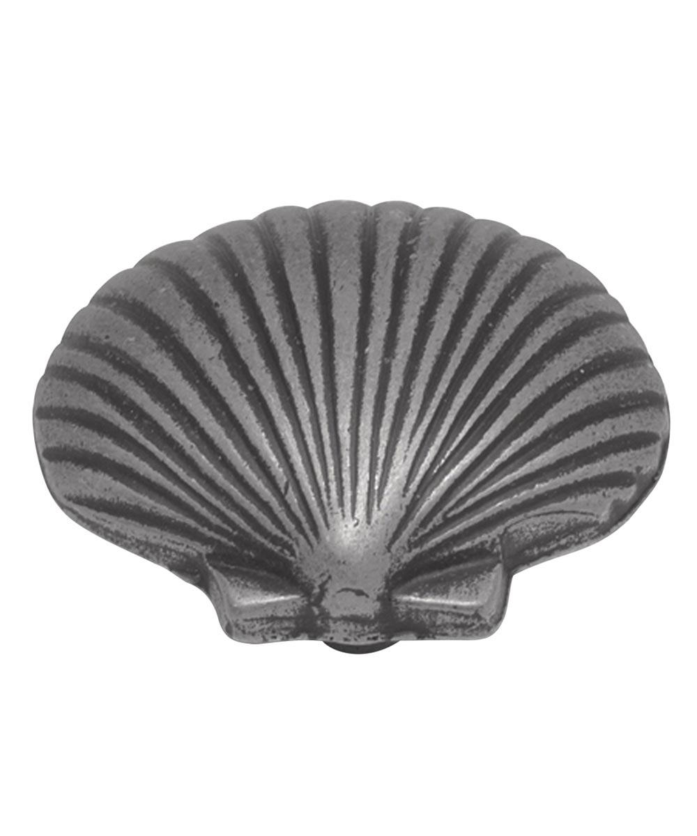 1-3/8 in. Vibra Pewter Shell South Seas Cabinet Knob