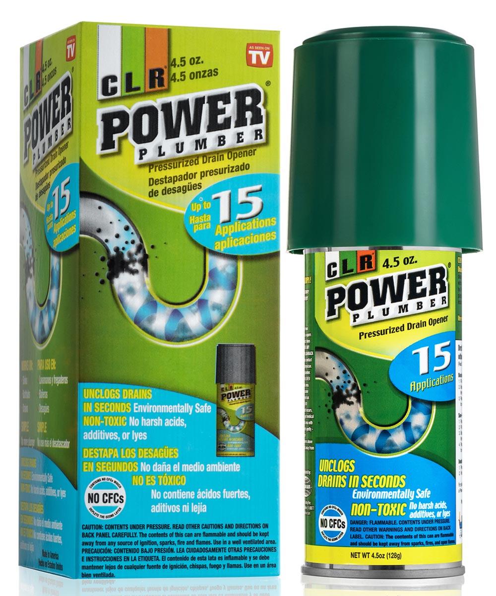 CLR 4.5 Oz Power Plumber Pressurized Drain Opener Spray Can