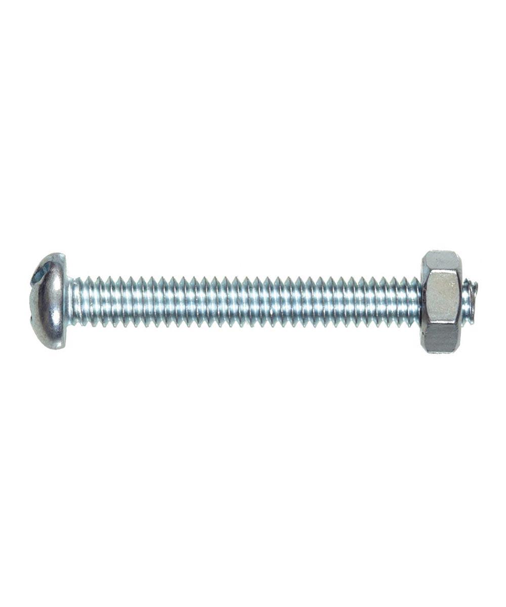 Round-Head Combo Machine Screw with Nut (3/8-16 x 1 in.)
