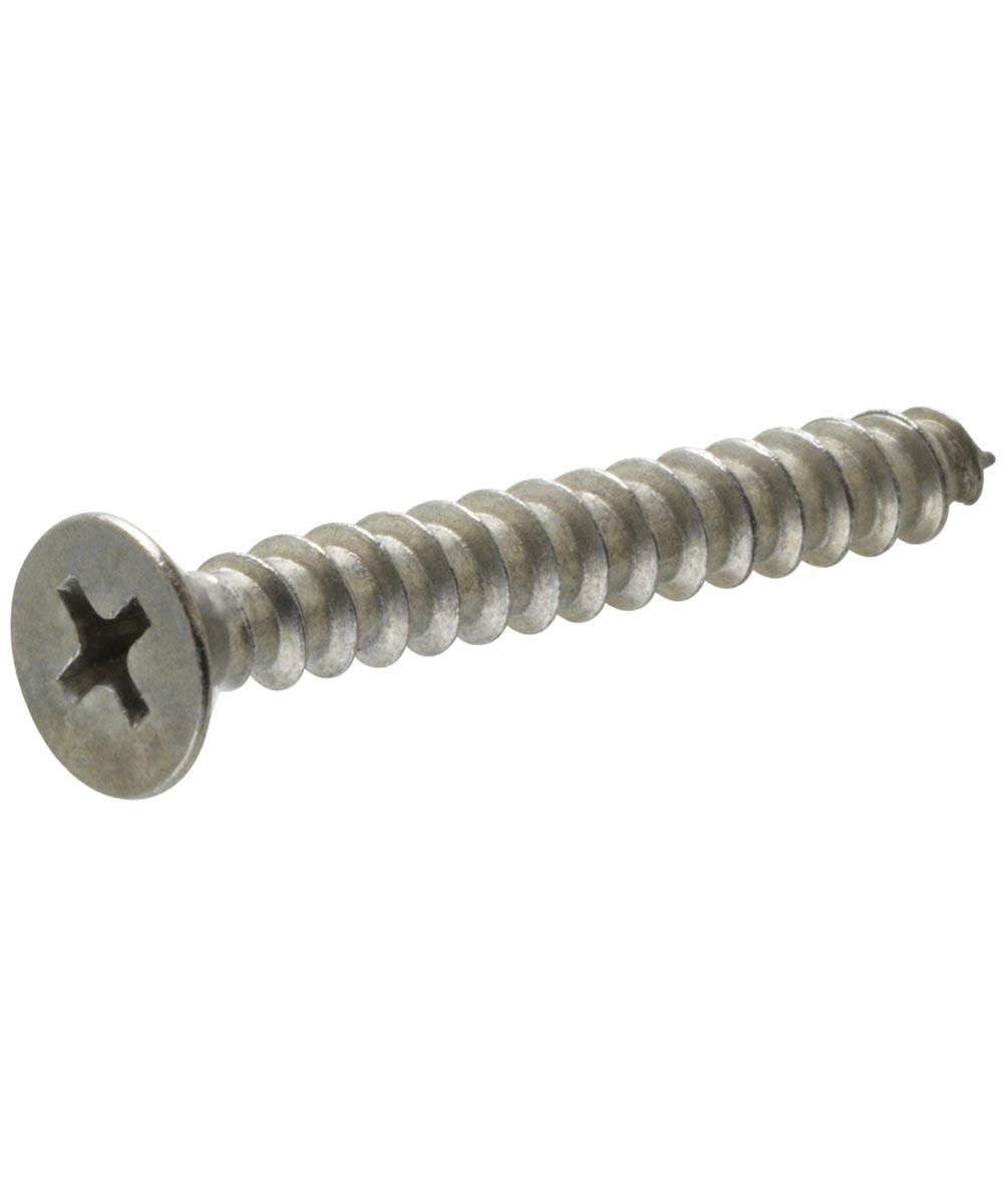 18-8 Stainless Steel Flat Head Phillips Sheet Metal Screw #10 x 1 in., 6 x 1-1/2