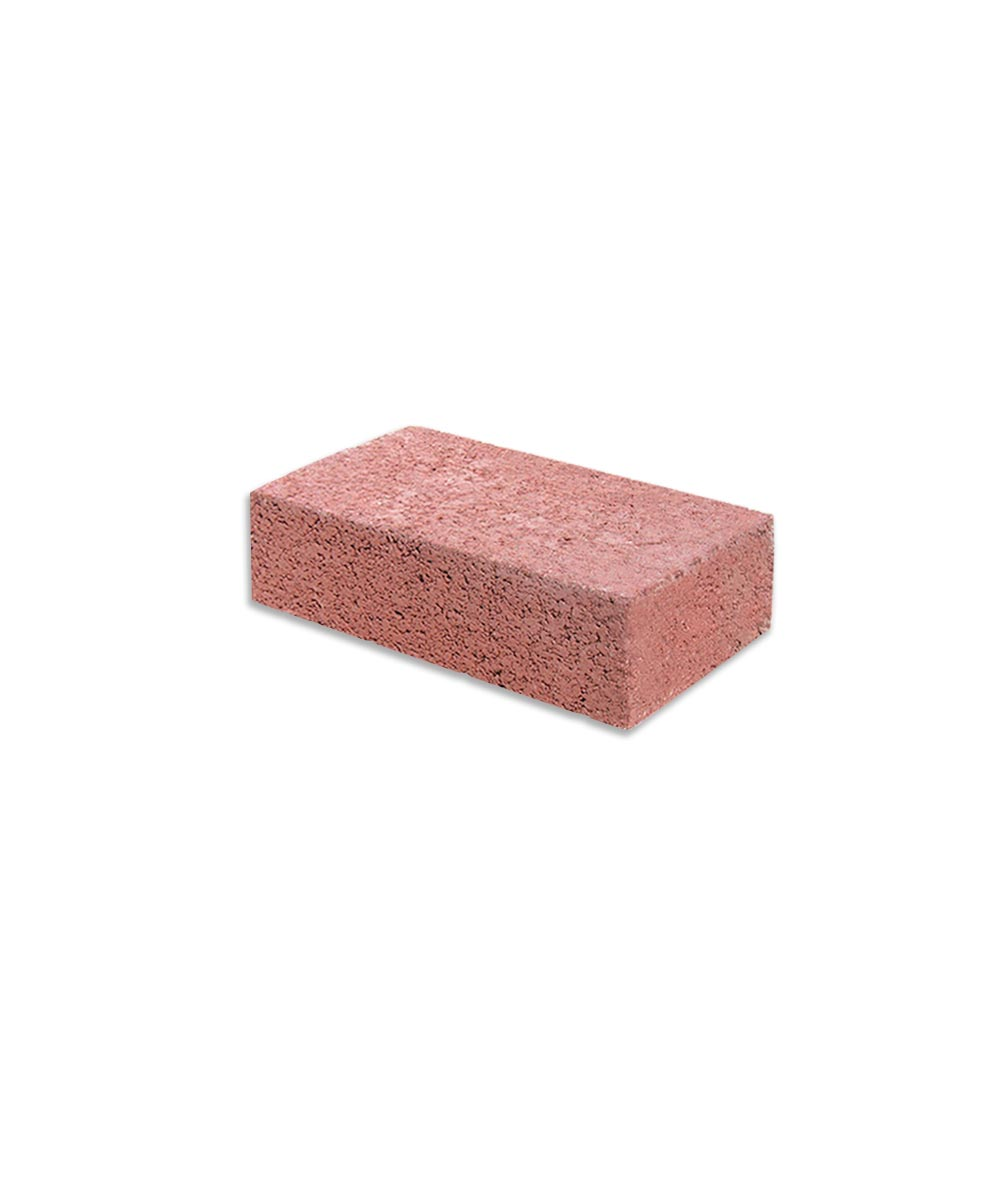 2 in. x 4 in. x 8 in. Red Cement Brick
