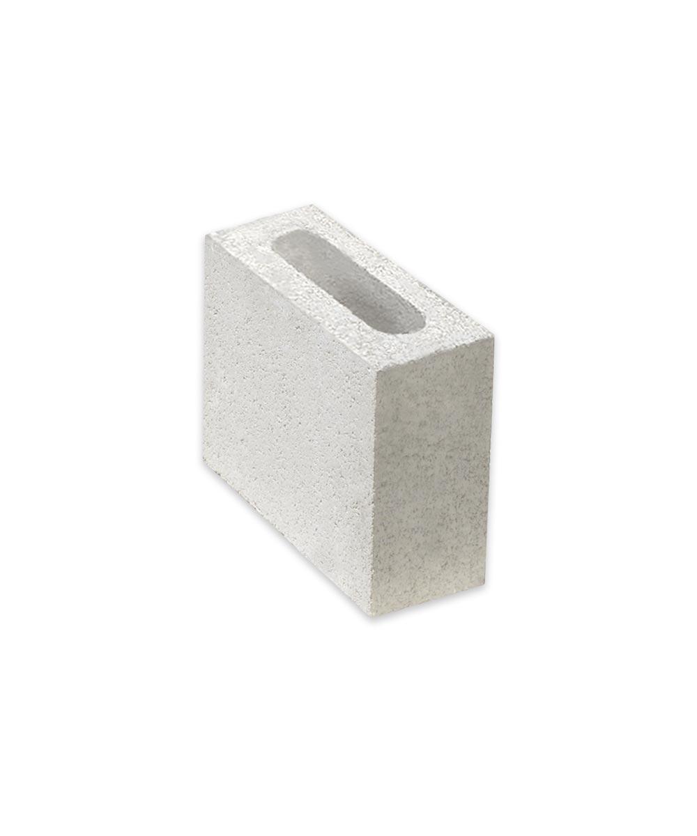 4 in. x 8 in. x 8 in. Gray Concrete Half Block