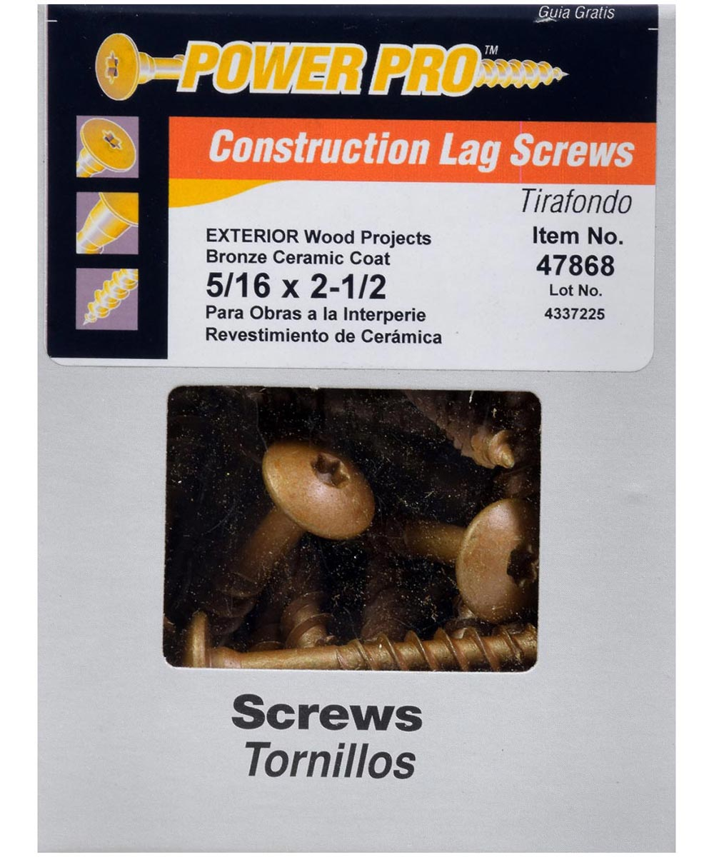 Star Drive Construction Lag Screw 5/16 in. x 2-1/2 in.