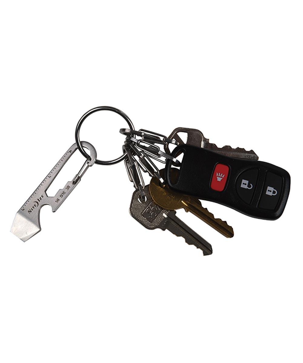 Doohickey Key Tool Keychain Multi-Tool, Stainless Steel