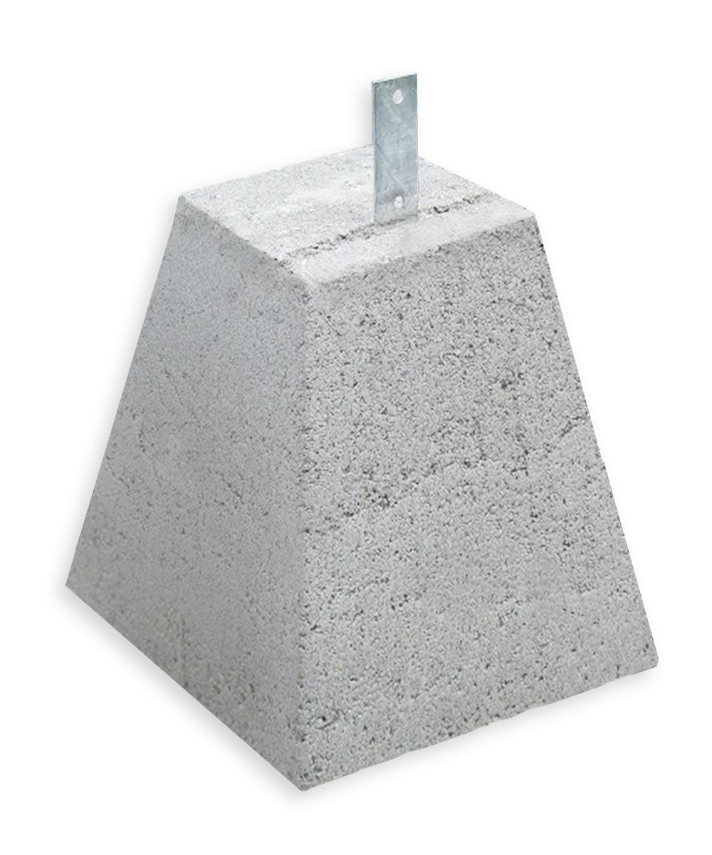 12 in. x 7 in. x 12 in. Gray Concrete Garage Pier Block