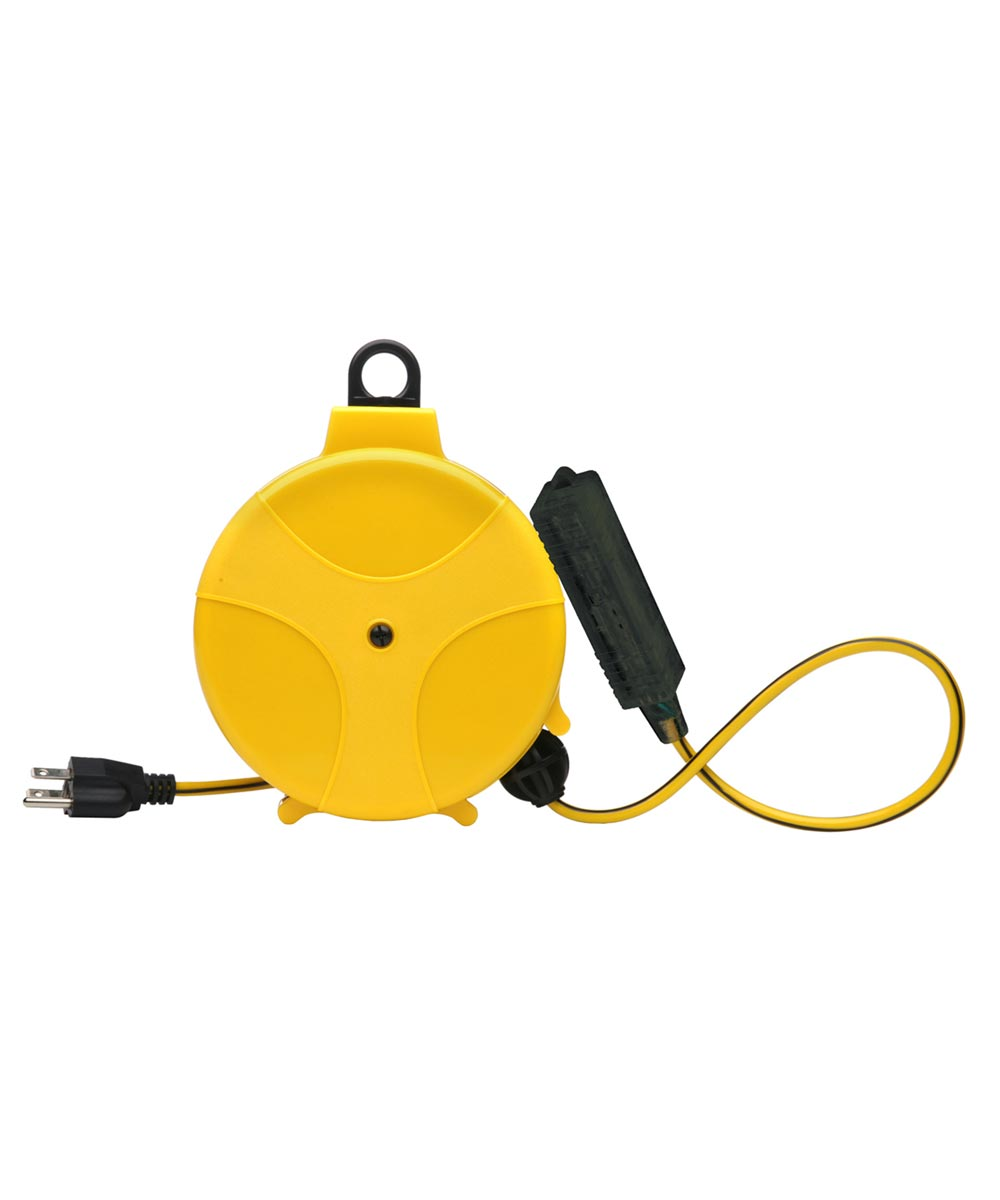20 ft. Yellow Retractable Extension Cord Reel