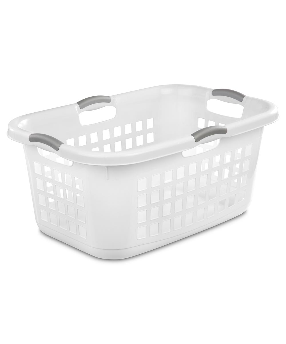 2 Bushel White Laundry Basket