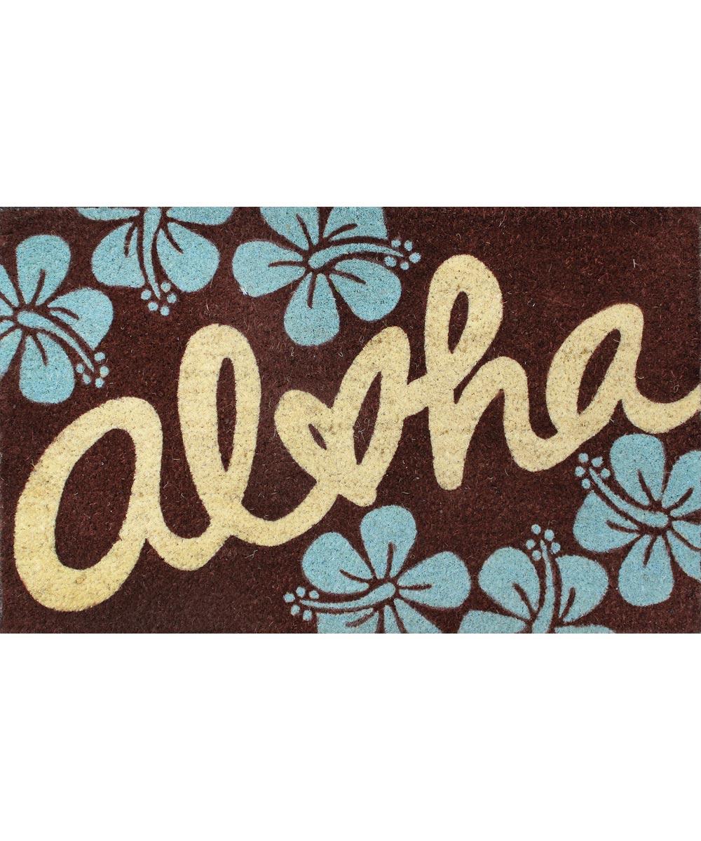 Aloha Welcome Mat, Hibiscus