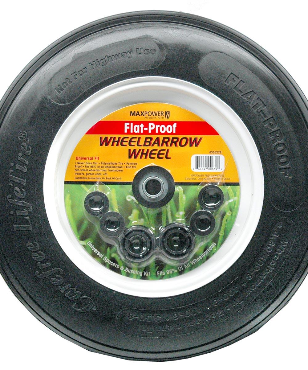 Flat-Proof Wheelbarrow Wheel