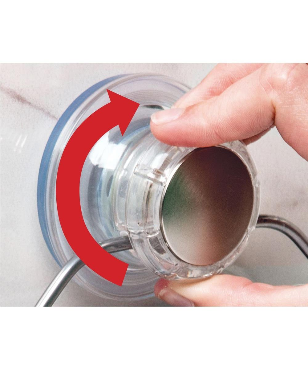 Metro Aluminum Turn-N-Lock Suction Basket, Silver