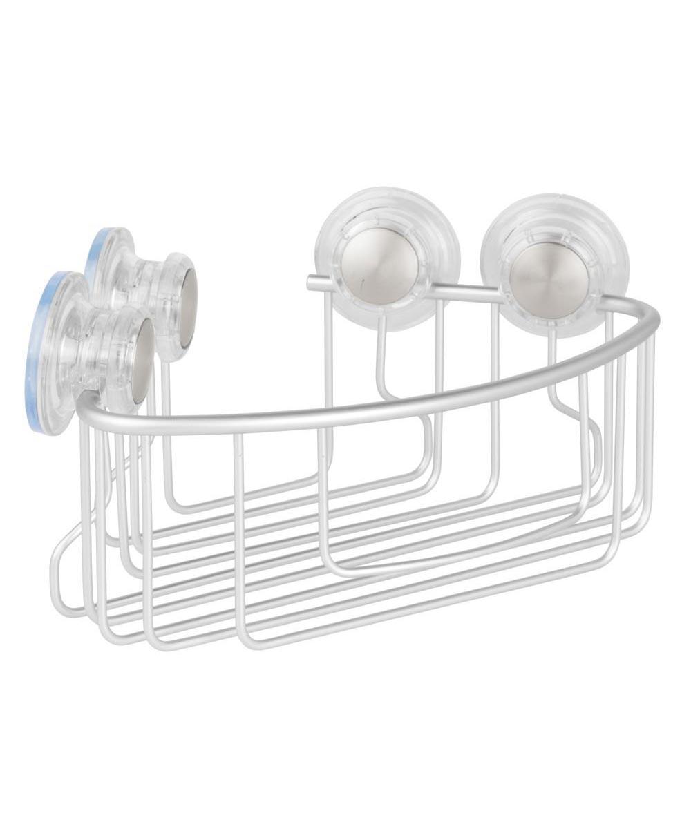 Metro Aluminum Turn-N-Lock Suction Corner Basket, Silver