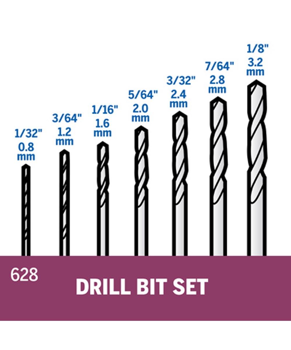 Dremel 7 Piece Drill Bit Set