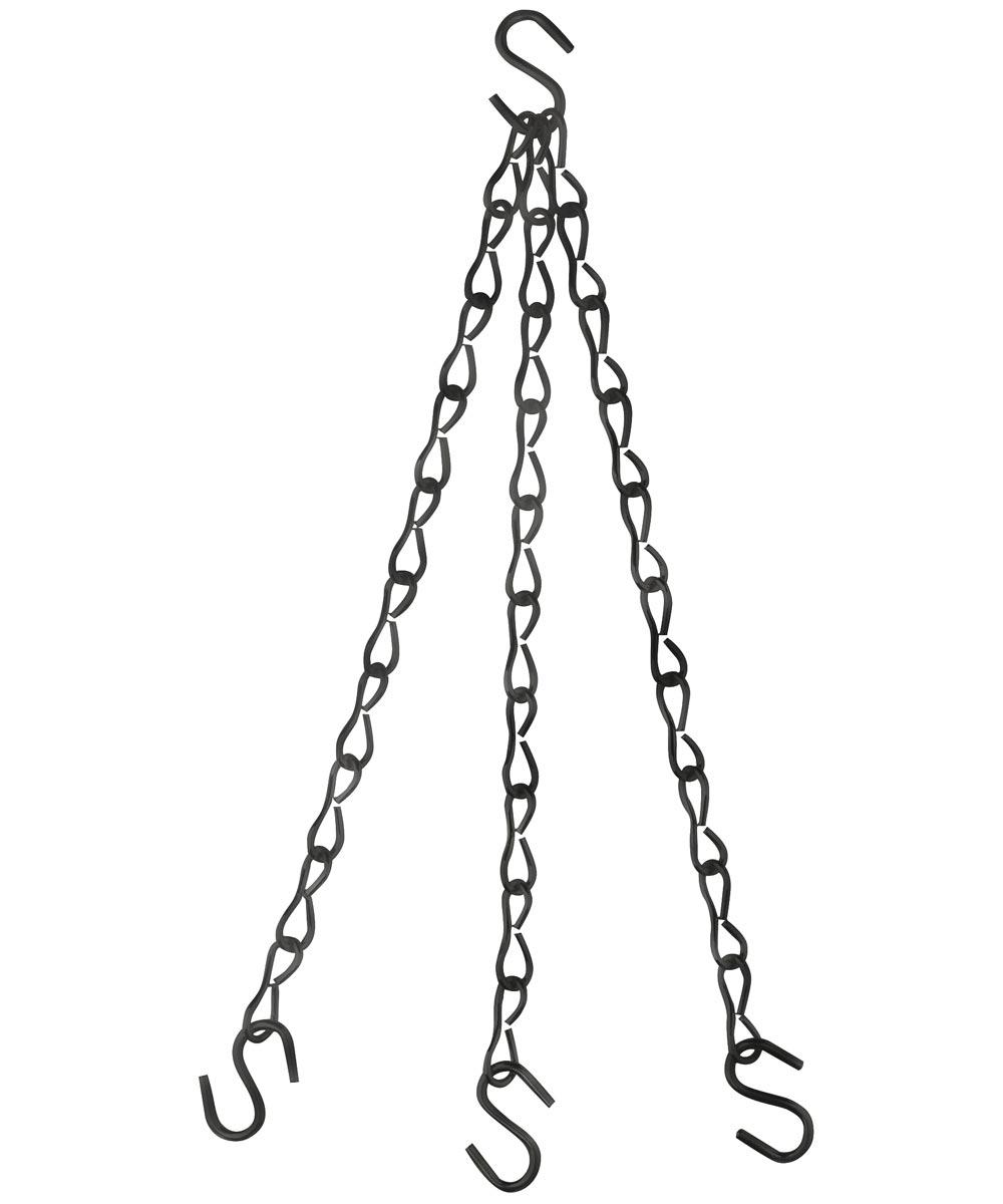 Flower Plant Chain, 15 lb, 18 in. (L), Steel, Black