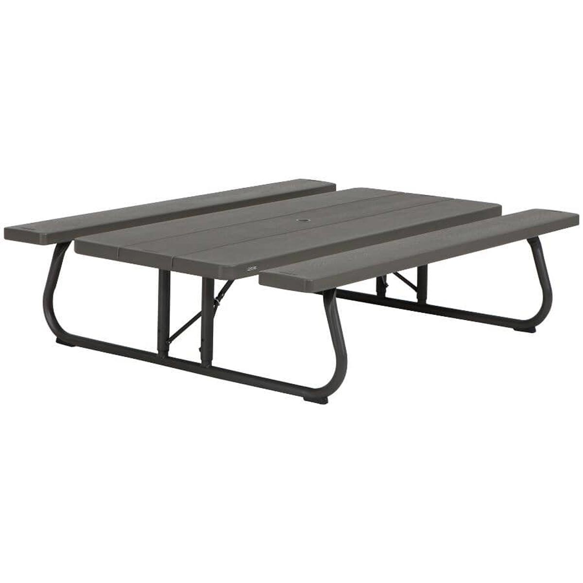 Lifetime 6 ft. Folding Picnic Table with Bench Seats