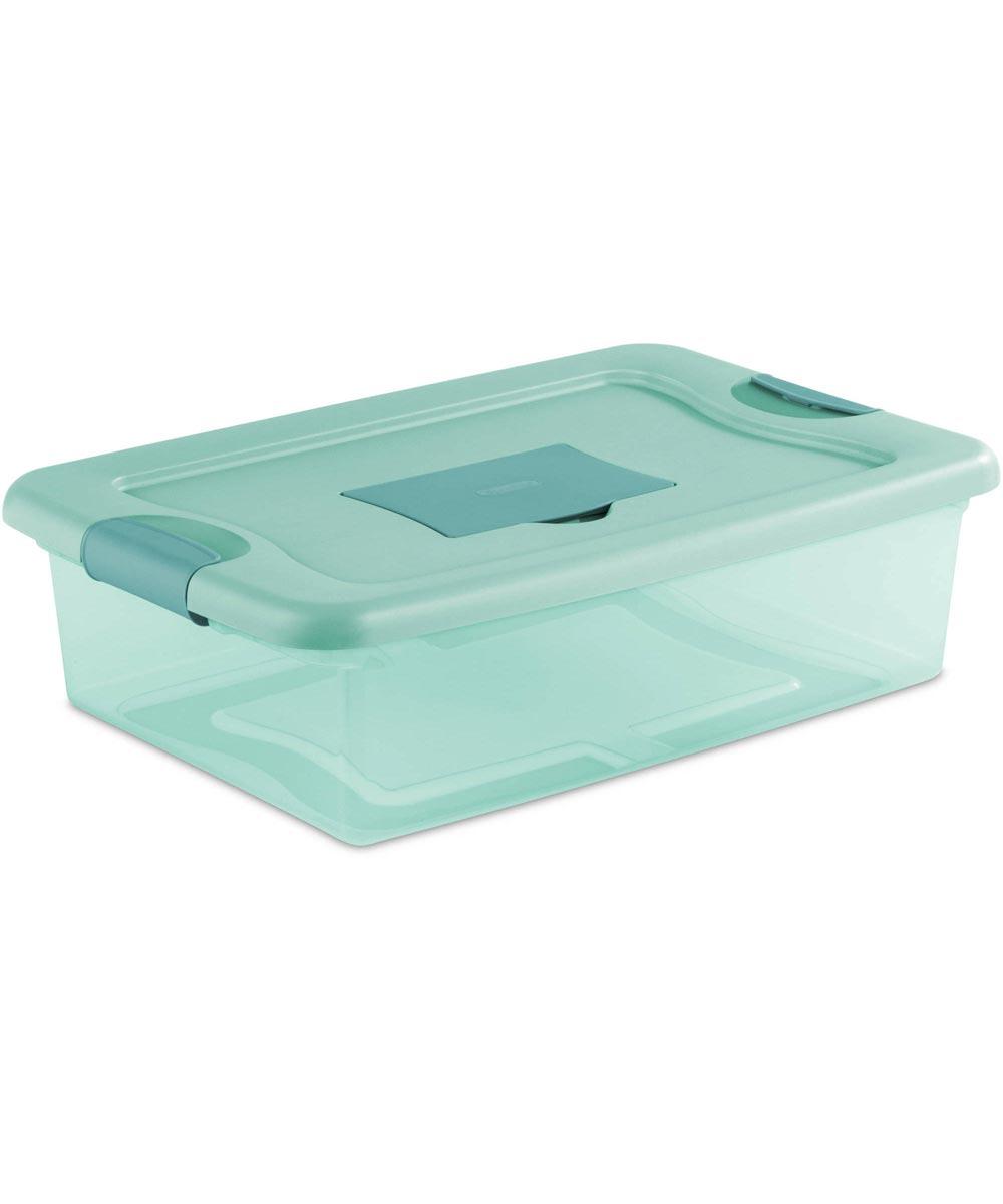 Sterilite 32 Quart Aqua Fresh Scent Box