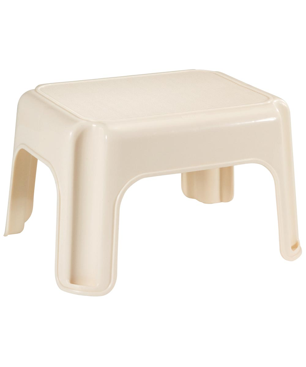 15.5 in. x 12.5 in. x 9.25 in. Bisque Step Stool