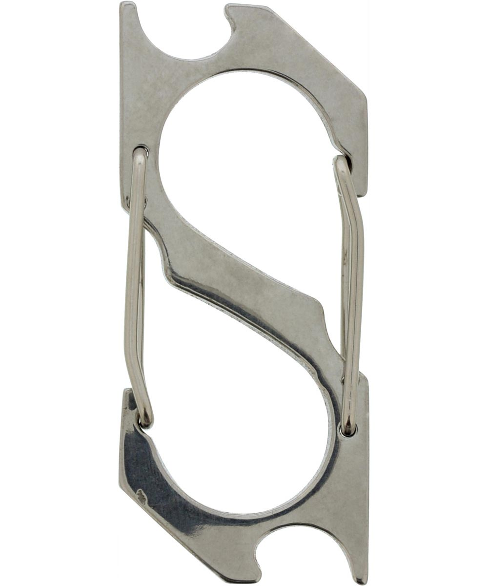 Key Chain Multi-Tool with 2 Carabiners and 2 Bottle Openers
