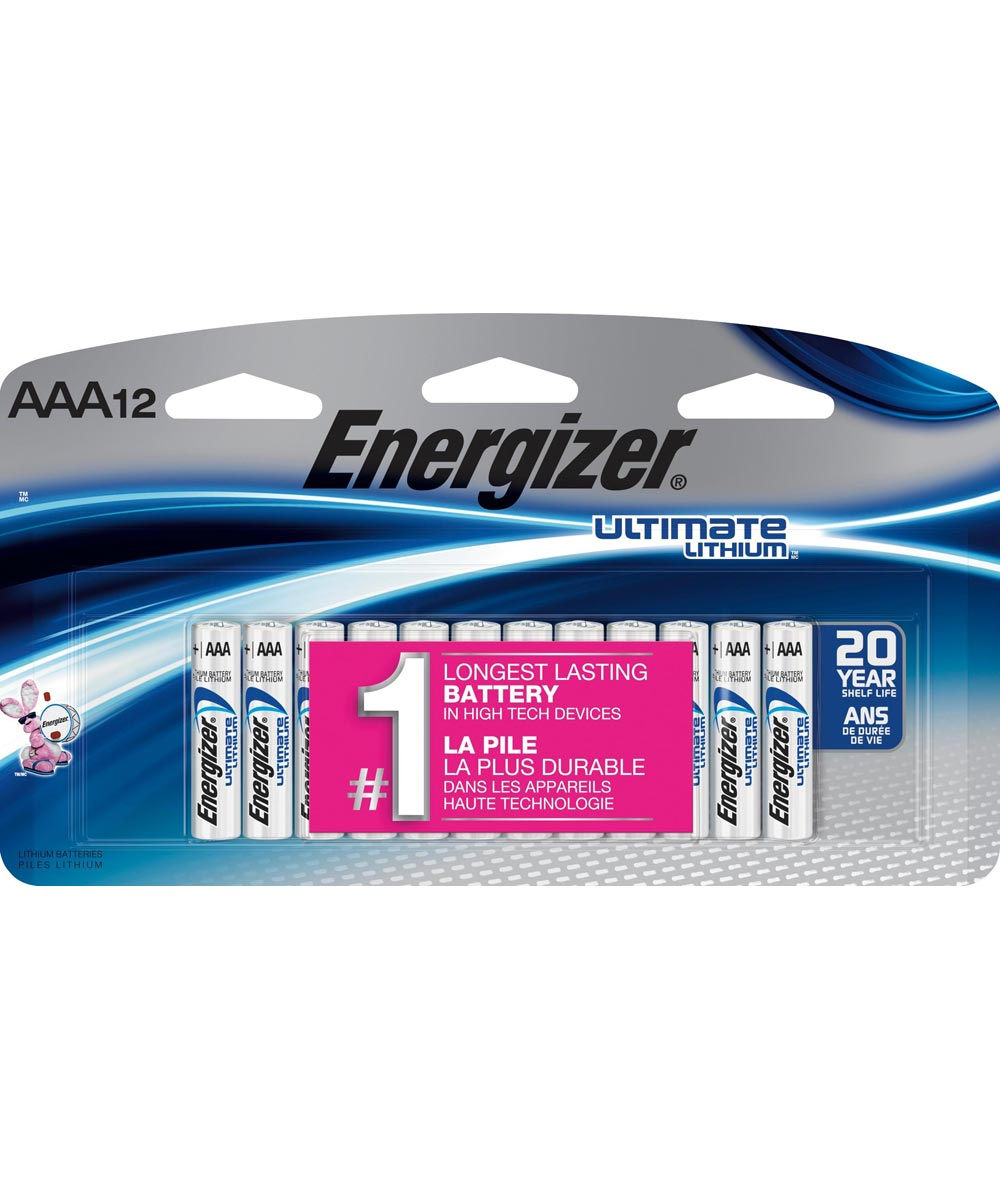 Energizer AA Lithium Battery, 12 Pack