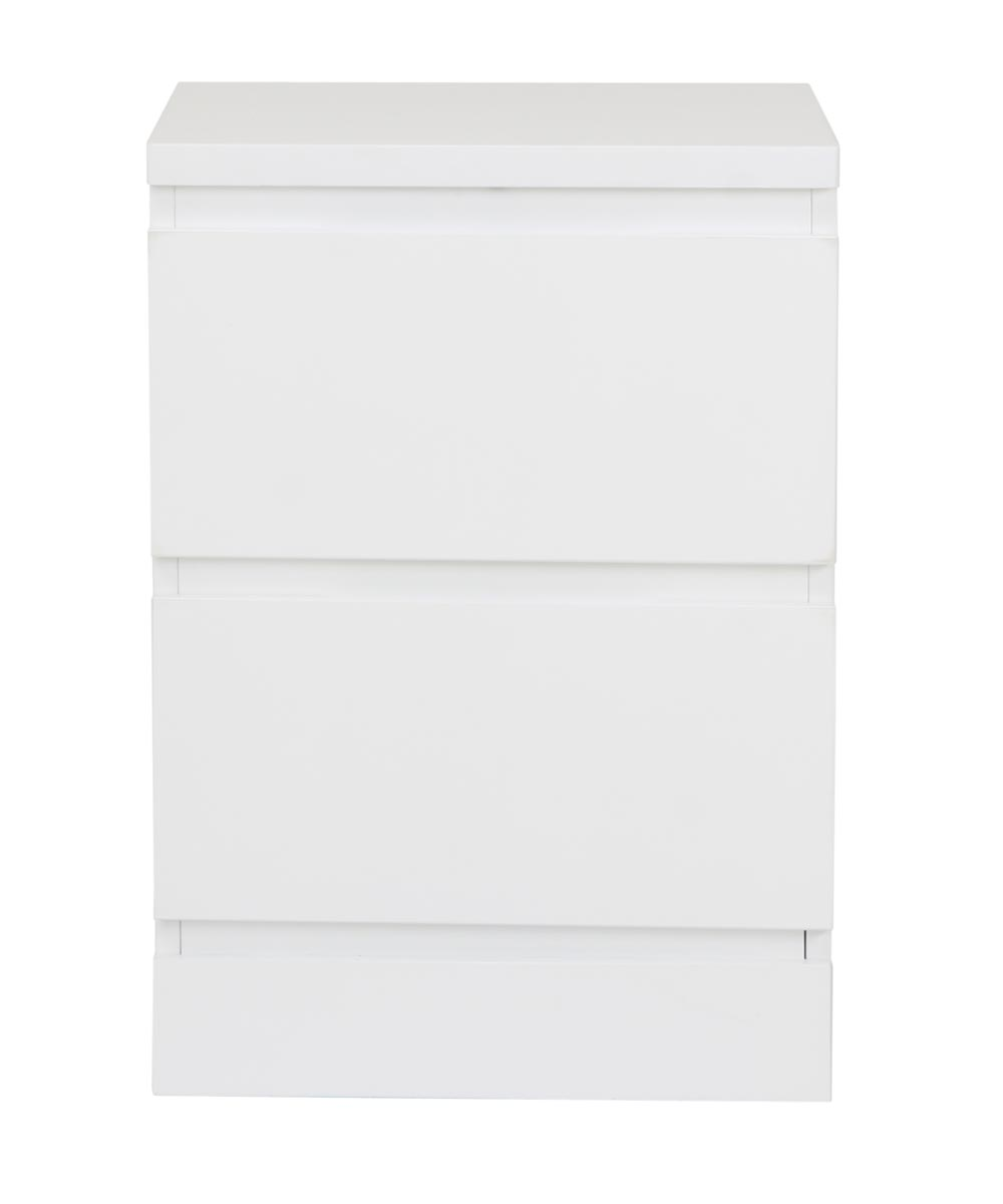 Simplicity Collection 2 Drawer Nightstand, White