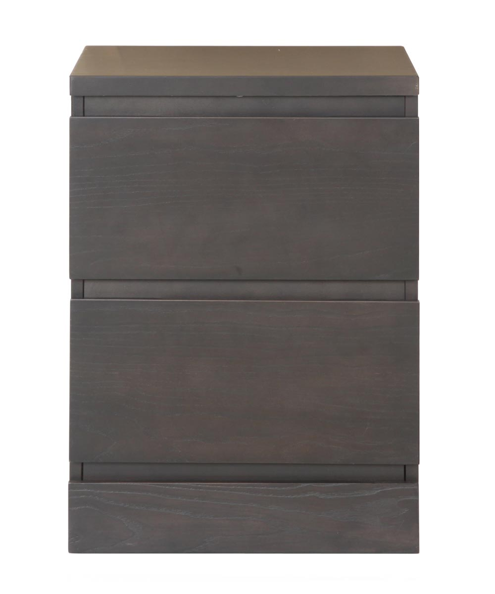 Simplicity Collection 2 Drawer Nightstand, Black/Brown