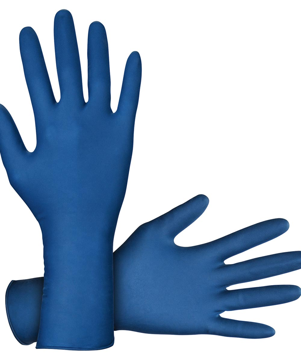 Large Blue Powder-Free Latex Thickster Exam-Grade Disposable Gloves, 2 Count