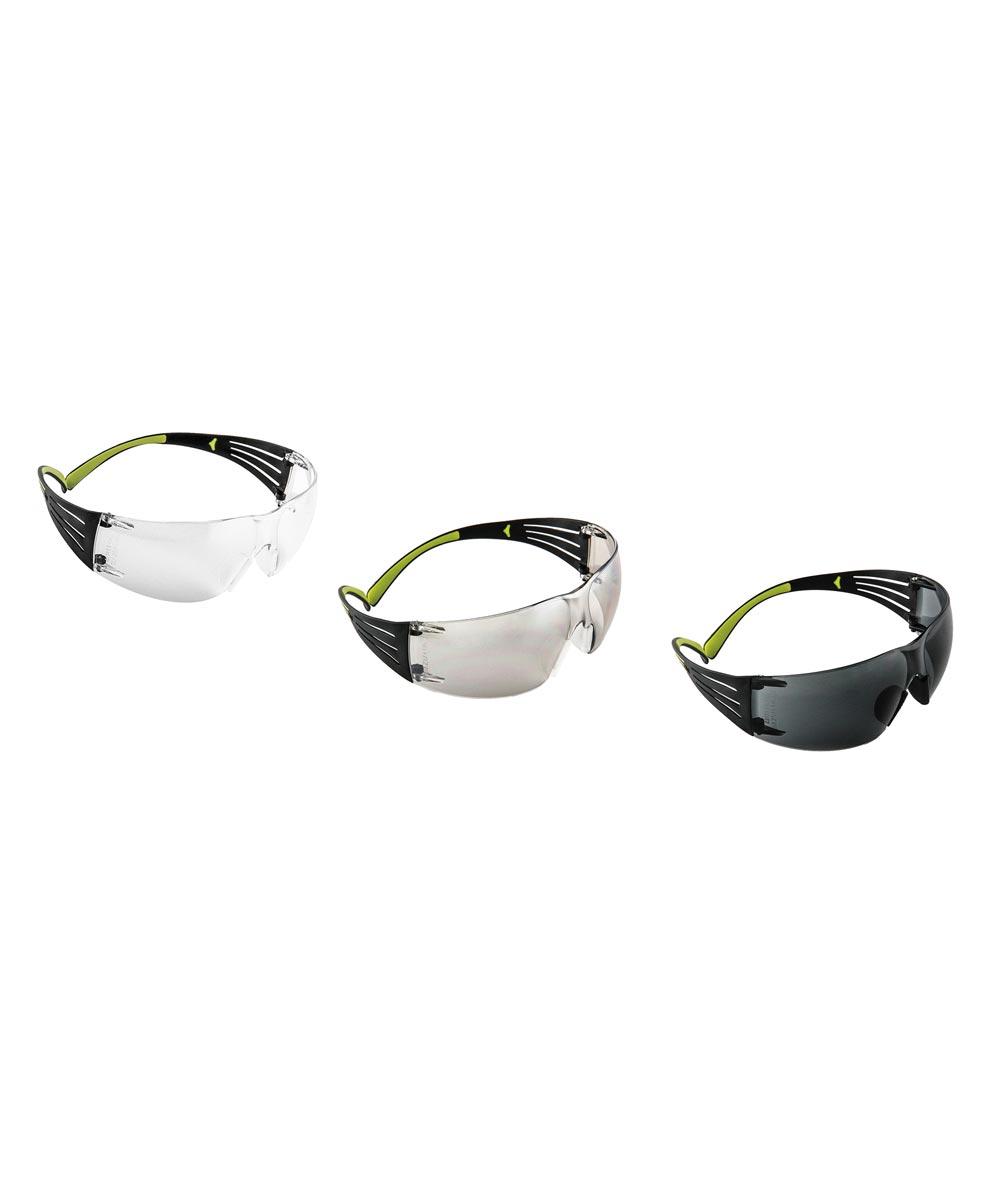 3M SecureFit 400 Safety Glasses, 3 Pack