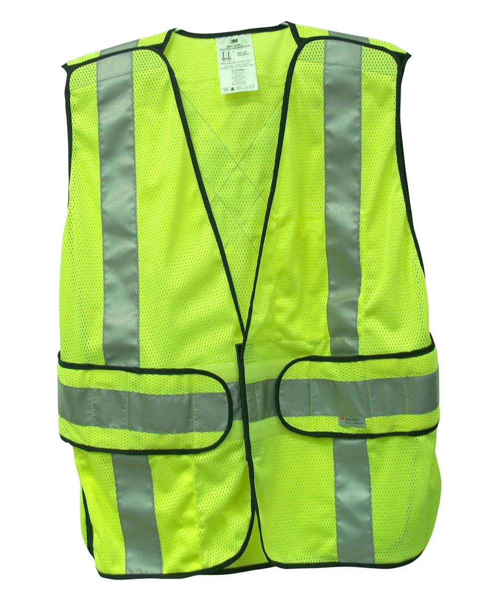 3M Yellow Reflective Class 2 Construction Safety Vest