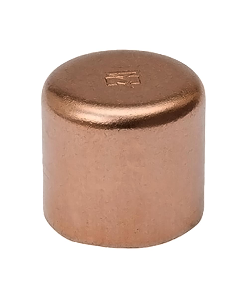 1/2 in. Copper Cap,C x C, Bag of 10
