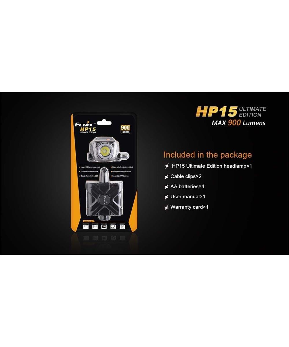 Fenix HP15UE 900 Lumen Ultimate Edition LED Headlamp, 4AA