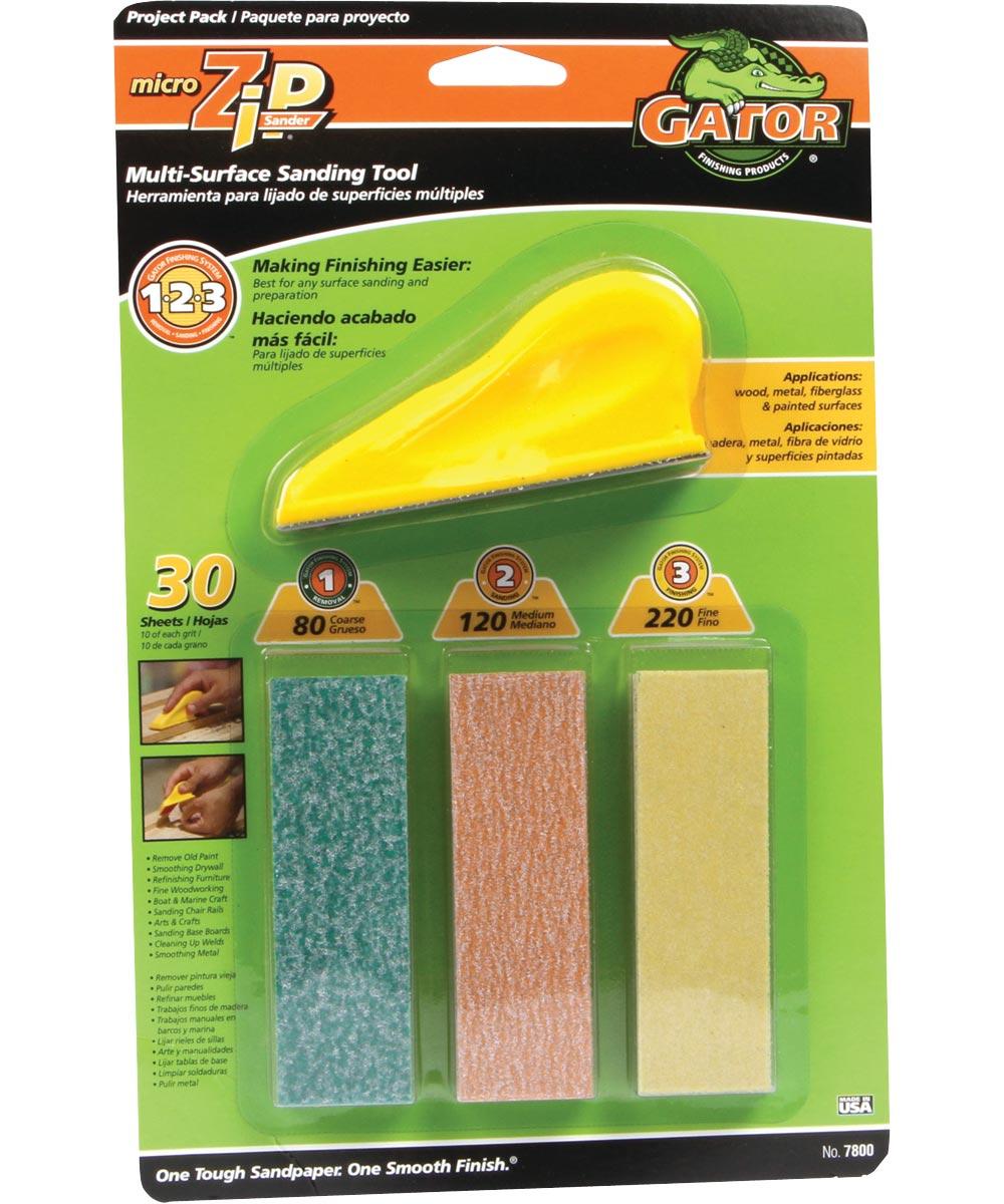 Gator Micro Zip Sander Sanding Kit