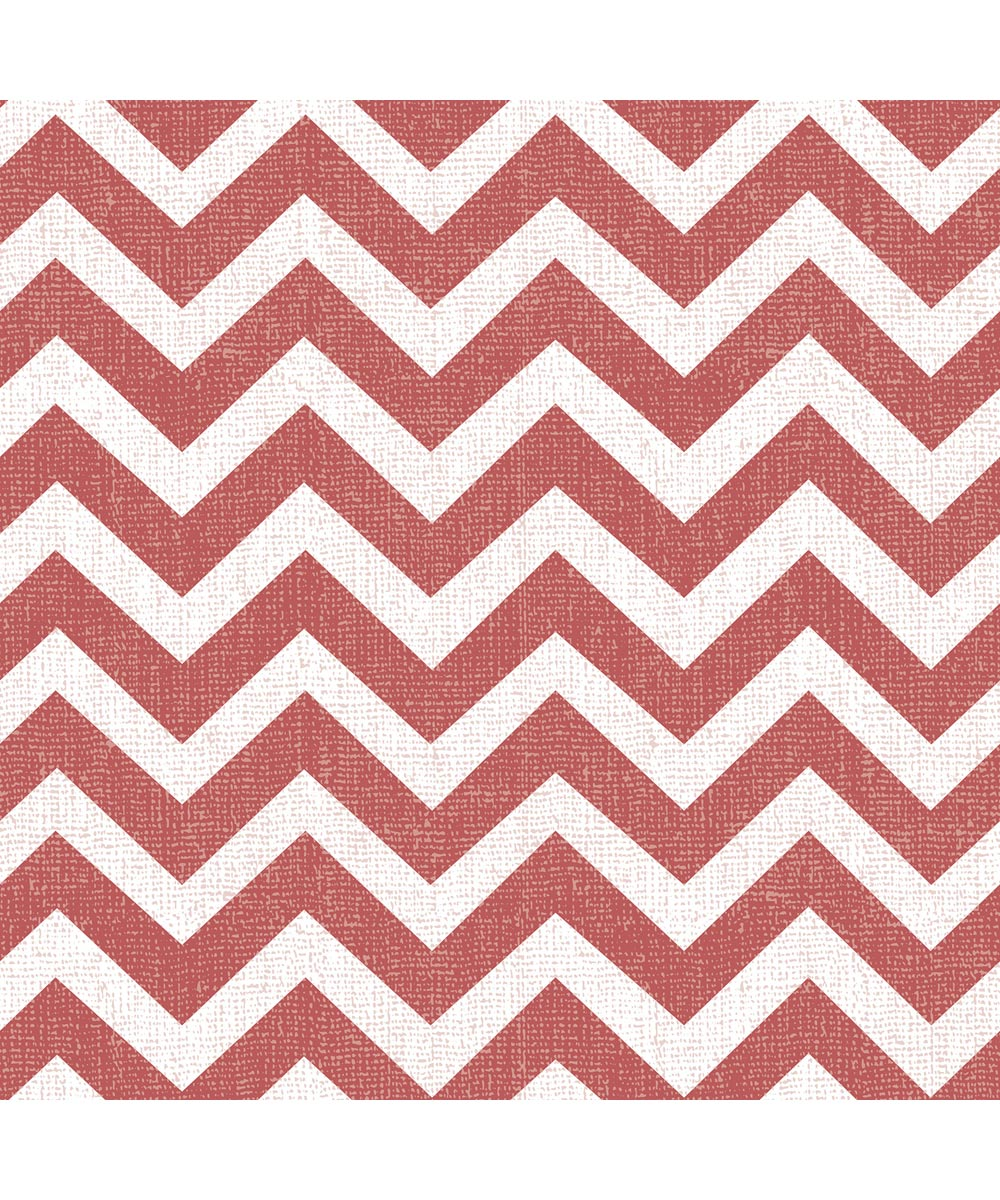 54 in. Magic Cover Vintage Chevron Red Flannel Backed (Sold Per Foot)