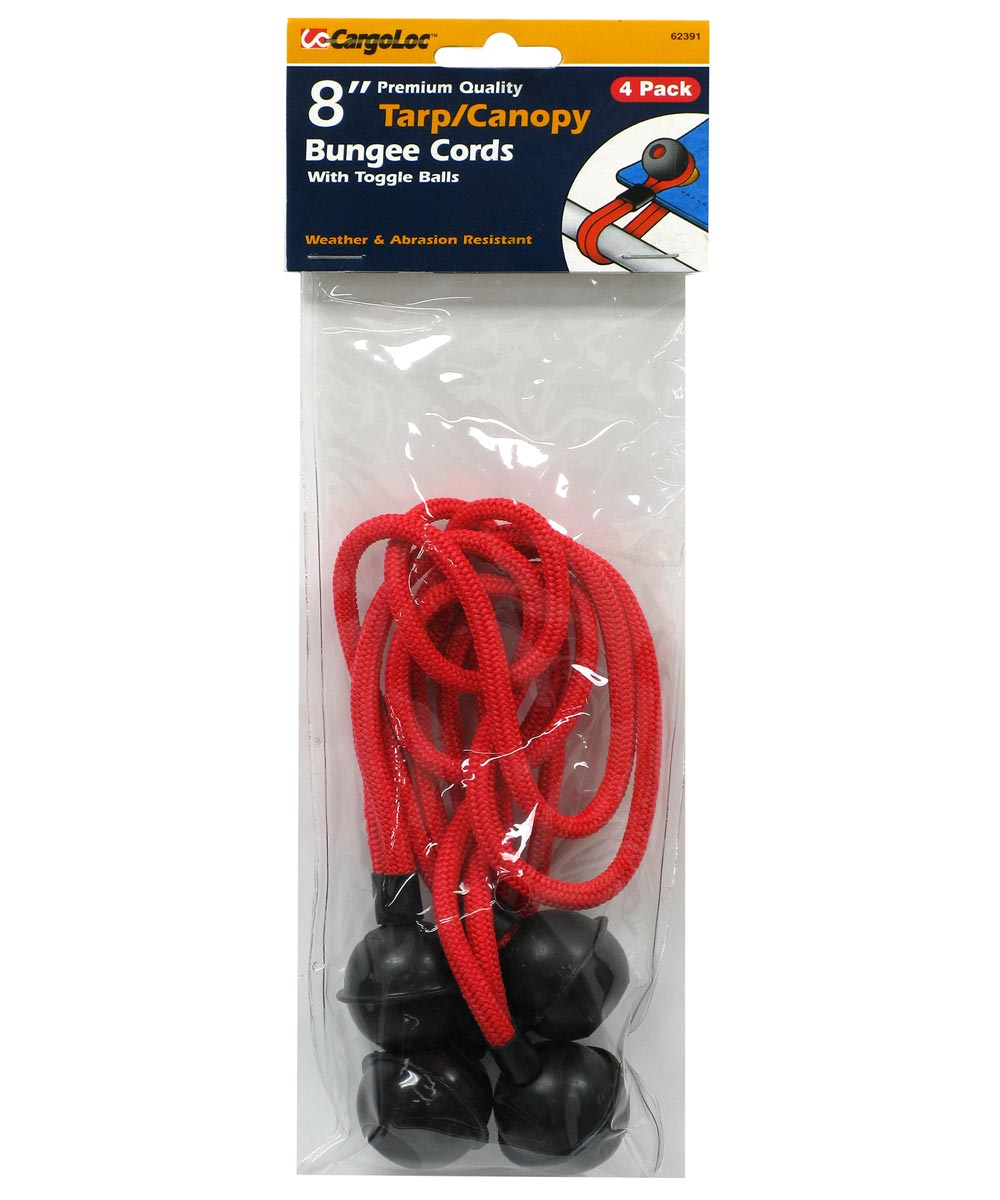 8 in. x 4Mm Red Ball Bungee 4 Piece Set