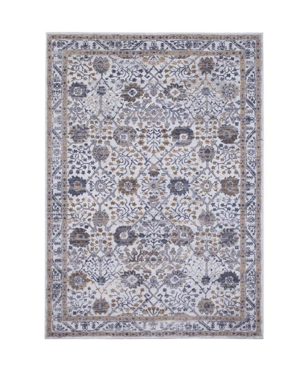 Picture of: Kenmare Floral Gray Yellow Area Rug 5×7 Ft City Mill