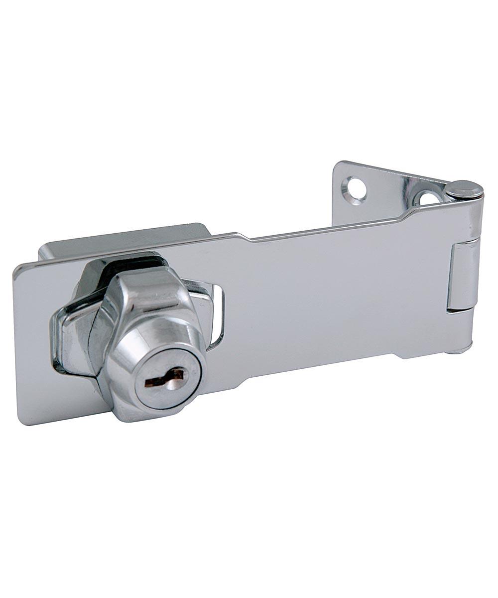 4.5 in. Chrome Key Locking Hasp