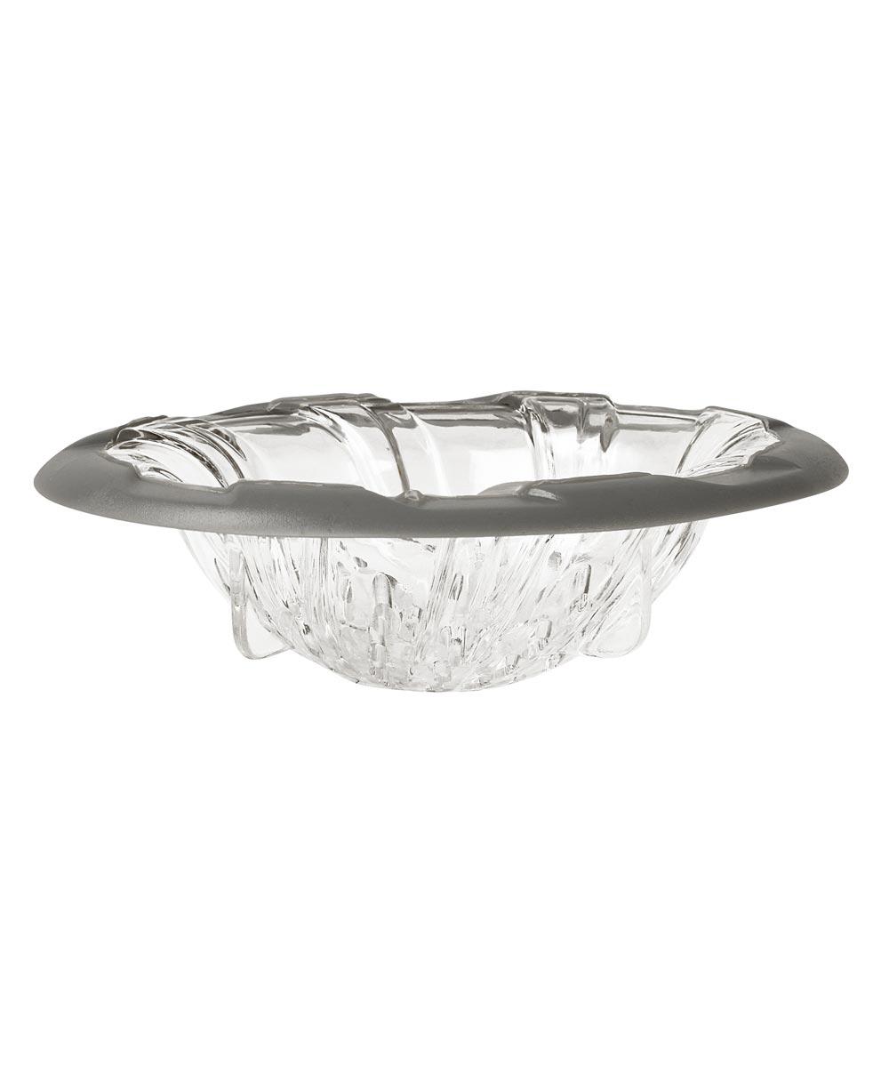 4.5 in. Gray/Clear Cora Spiral Sink Strainer