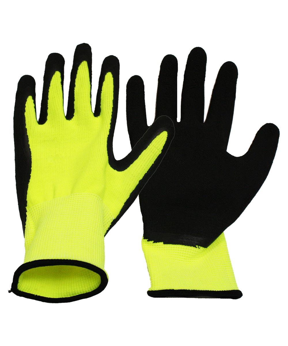Medium Neon Knit Work Gloves