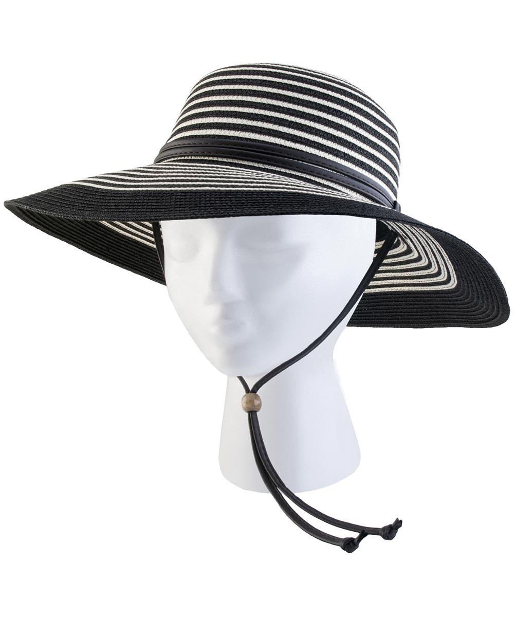 Medium Women's Black & White Wide Brim Hat