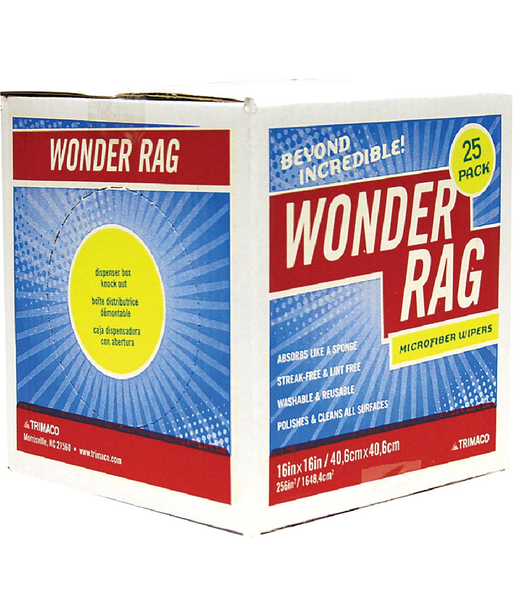 Wonder Rag Microfiber Cleaning Cloths, 25 Pack Box