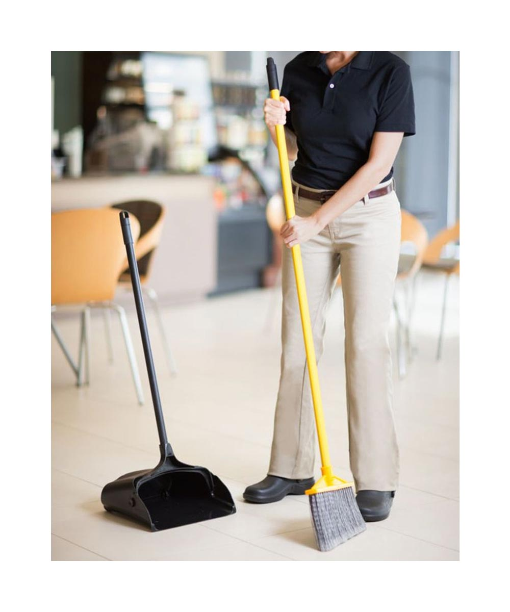Rubbermaid Long Handle Upright Dustpan with Wheels