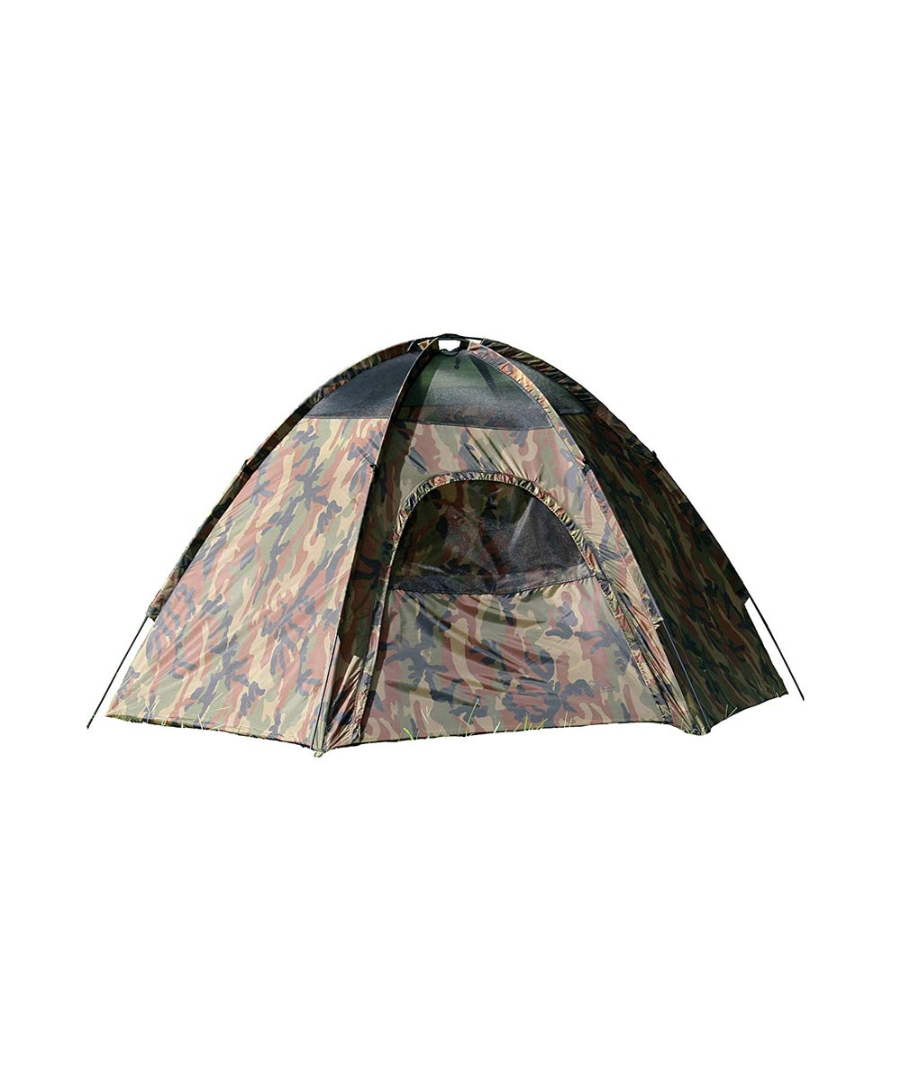 Texsport 3-Person Camouflage Hexagon Dome Camping Tent