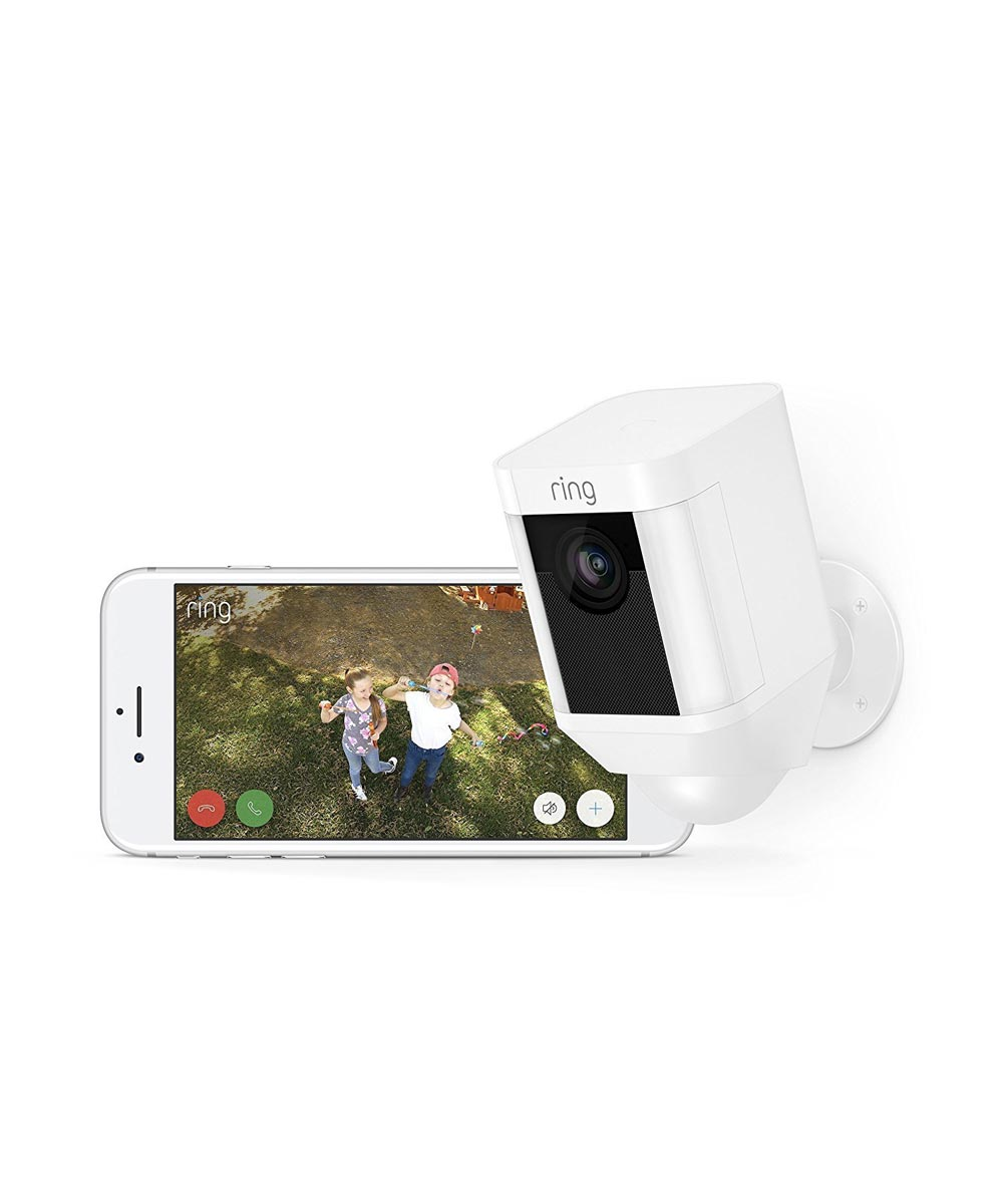 Ring Spotlight Cam Battery Powered Security Camera, White