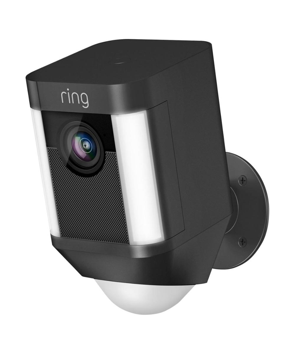 Ring Spotlight Cam Battery Powered Security Camera, Black