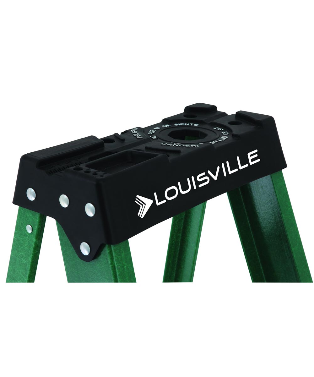 Louisville 6 ft. Standard Fiberglass Step Ladder, 225 lb. Load