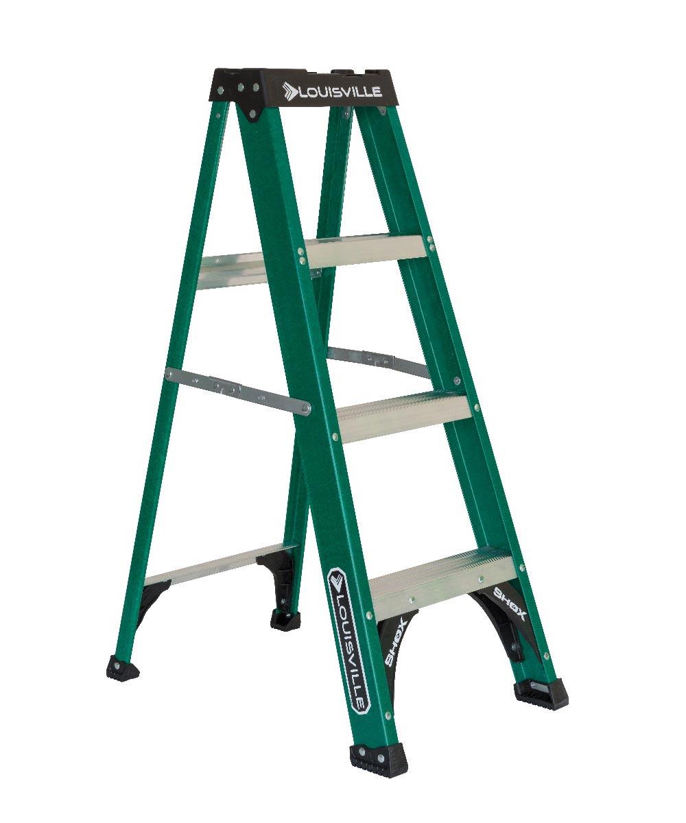 Louisville 4 ft. Standard Fiberglass Step Ladder, 225 lb. Load