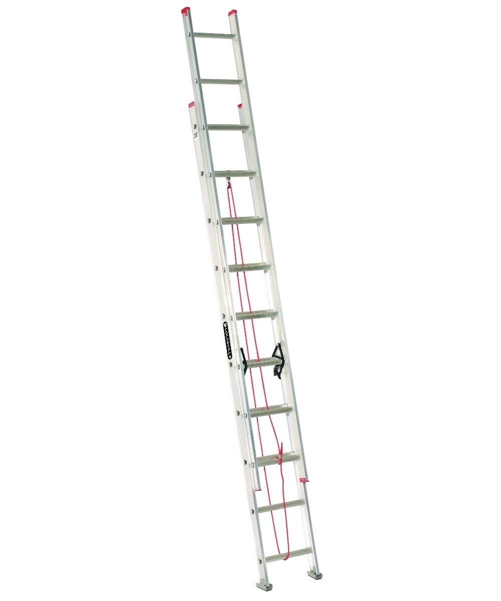 Louisville 20 ft. Multi-Section Aluminium Extension Ladder, 200 lb. Load