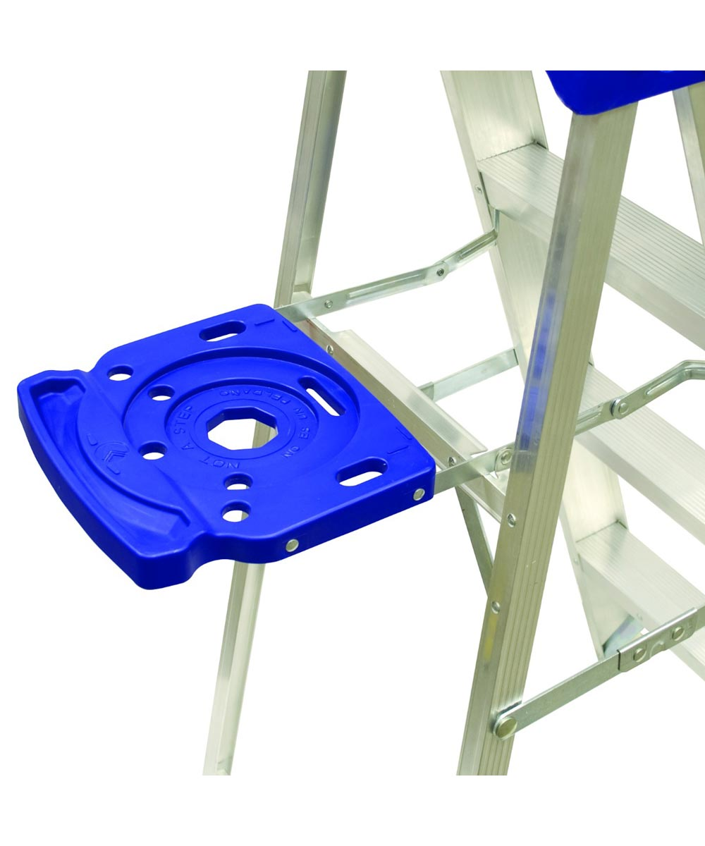 Louisville 6 ft. Aluminum Step Ladder with Molded Pail Shelf, Type I 250 lb. Load