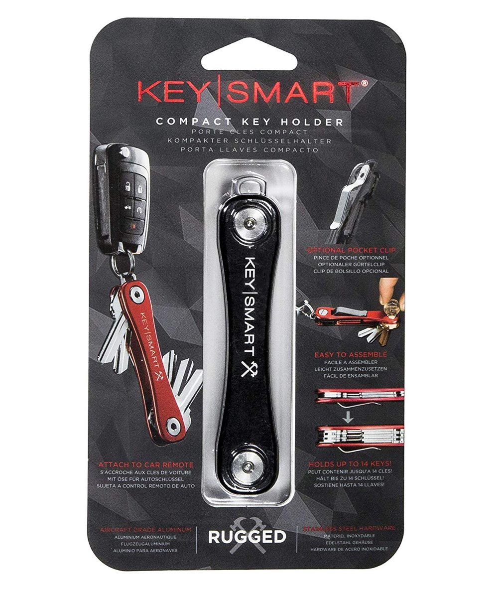 KeySmart Rugged Key Holder, Black