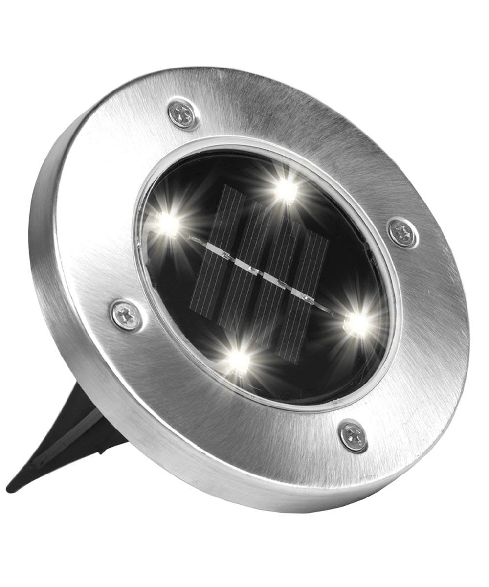 Solar Powered Disk Lights, 4 Pack