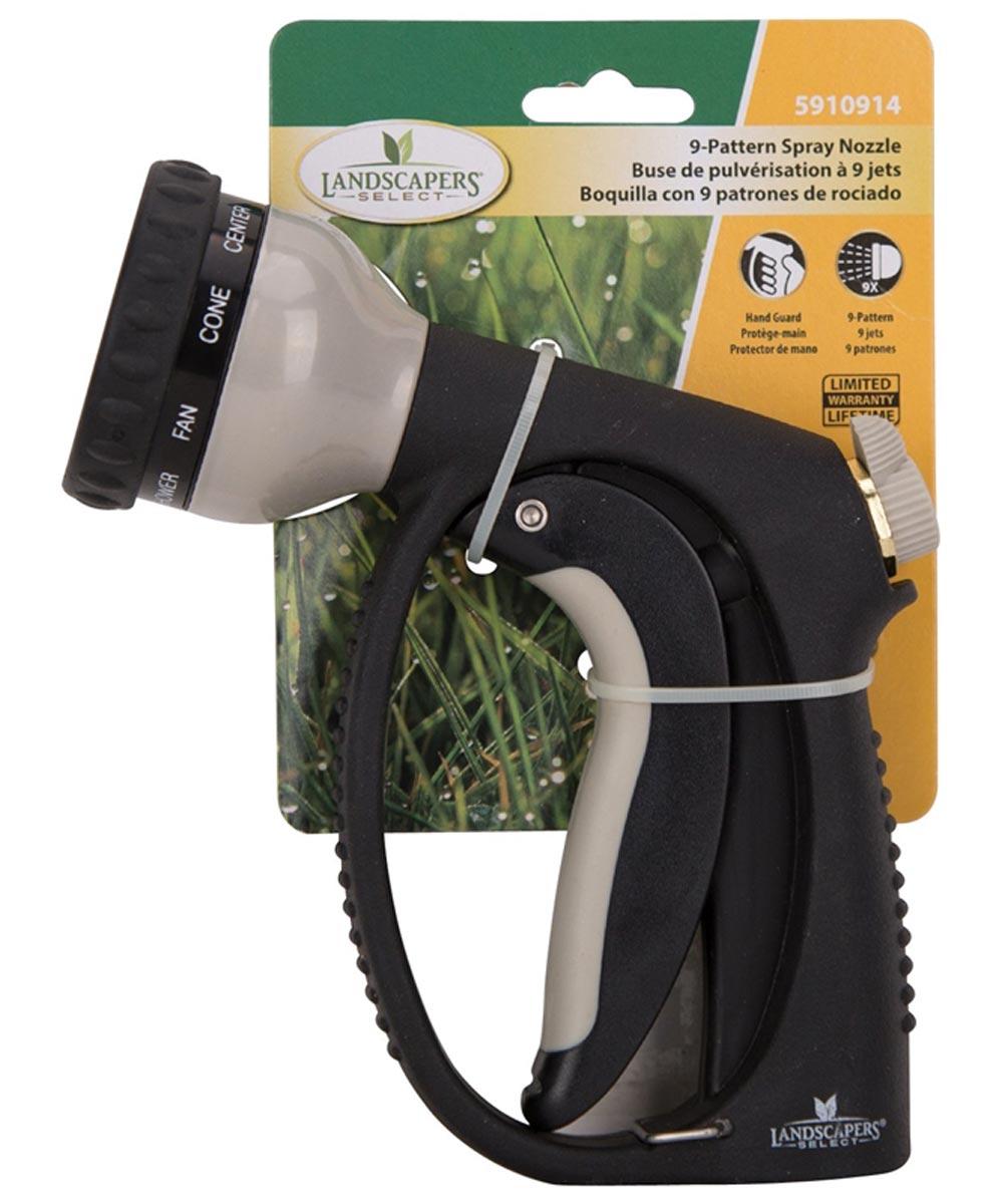 9 Pattern Metal Trigger Spray Hose Nozzle